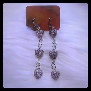 For the Love of Hearts Dangle Earrings
